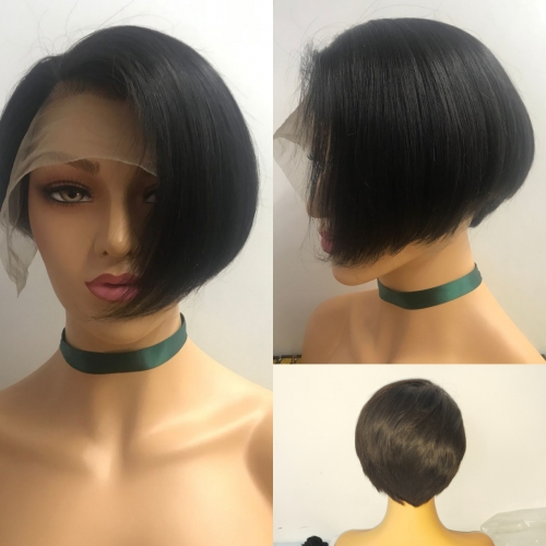 Osolovely Beauty Pixie Cut Short Bob Wig 150% Density 13x6 Lace Front Bob Wig